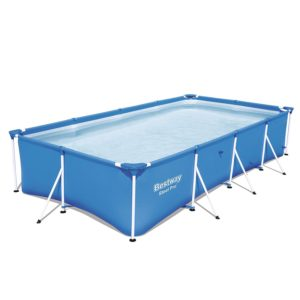 Bestway Steel Pro 157 x 83 x 32 Rectangular Frame Above Ground Swimming Pool