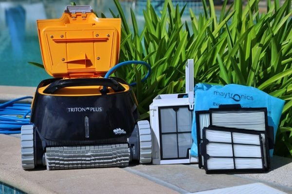 Dolphin Triton Plus Robotic Pool Cleaner with Powe