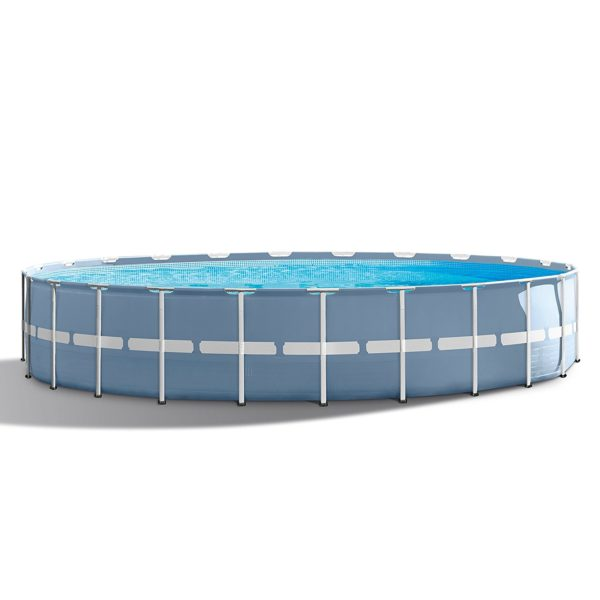 Intex 24ft X 52in Prism Frame Pool Set with Filter Pump Ladder Ground Cloth & Pool Cover