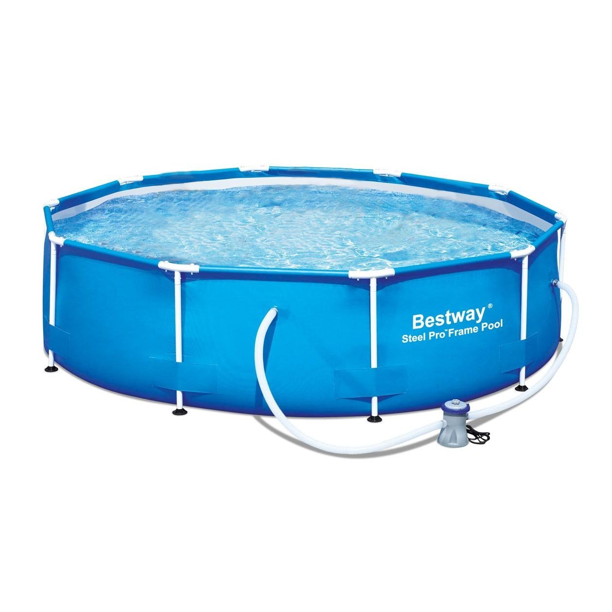 Bestway 12 39 x 36 steel pro frame above ground family swimming pool set w pump whole pools for Swimming pool pumps for above ground pools