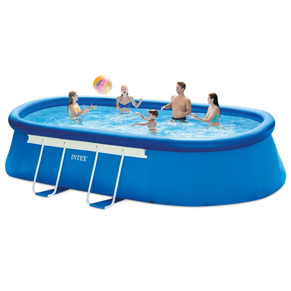 Intex 18ft X 10ft X 42in Oval Frame Pool Set With Filter