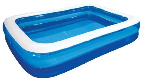 "Giant Inflatable Kiddie Pool   Family and Kids Inflatable Rectangular Pool   10 Feet Long (120"" X 72"" X 20"")"
