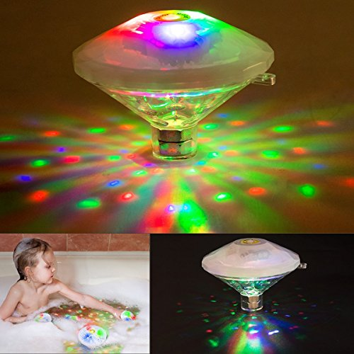 swimming pool lights Underwater Light Show Changing Bath Light Toys for Kids(7 Lighting Modes)  Waterproof Lightning Bulb Lamp Bath Toy  Colorful Floating Lights for Party Pond Spa Disco Bathtub