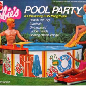 Barbie POOL PARTY Playset w Pool  Sundeck  Diving Board & MORE! (1973 Mattel Hawthorne)