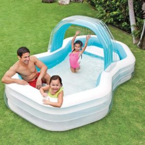 "Intex Family Cabana Swim Center Pool  122"" x 74"" x 51""  for Ages 3+"