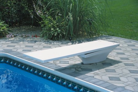 Flyte Deck II Stand with 8 foot Radiant White Fibre Dive Diving Board