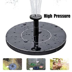 Solar Fountain Pump  Free Standing Solar Birdbath Fountain  2018 Upgraded 1 5W Solar Powered Fountain Pumps Submersible Outdoor  for Bird Bath  Small Pond  Swimming Pool  Garden  Patio and Lawn