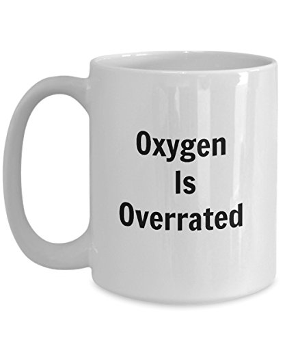 Swimming Pool Mug-Swimmer Coffee Mugs-Oxygen Is Overrated-Swim Tea Cup Perfect Novelty Gift Ideas For Girls and Boys  (15oz)