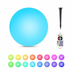 Alwoa LED Ball Lights  Floating Pool Lights  16 Color Changing  IP68 Waterproof  Rechargeable Moon Lamp Perfect for Home  Garden  Party (8inch-Sphere  1 Pack)