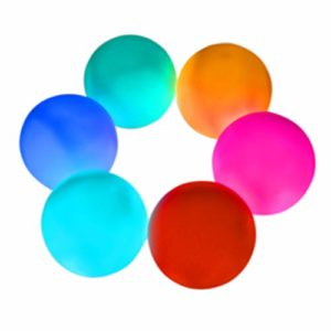 Aokely LED Ball Light 3  Floating Pool Light(Pack of 6)  Waterproof Mood Lamp  7 Colored LED Pool Ball Lights  Decorative Ball for Parties  Holiday Home Decor