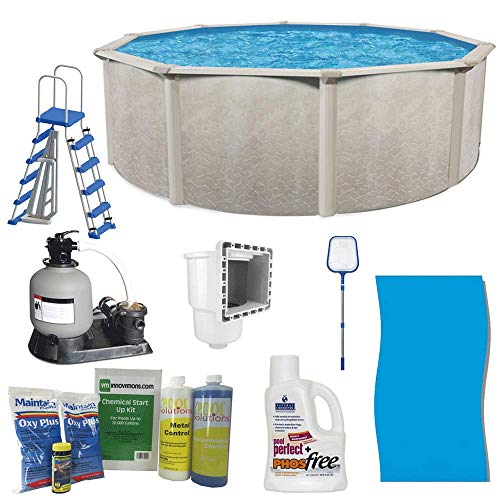 Cornelius Pools Phoenix 24' x 52  Frame Above Ground Pool Kit with Pump   Ladder