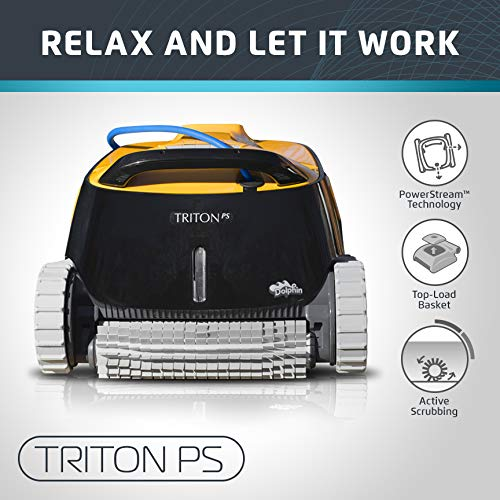 Dolphin Triton Robotic Pool Cleaner with PowerStream Ideal for Pools Up to 50 Feet