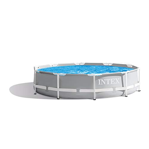 Intex 10' x 30  Prism Round Metal Frame Above Ground Outdoor Swimming Pool
