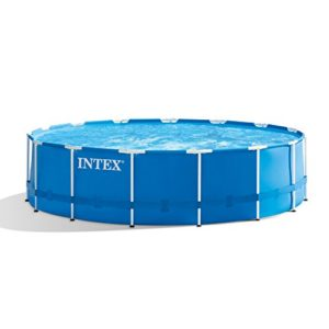 Intex 15ft X 48in Metal Frame Pool Set with Filter Pump  Ladder  Ground Cloth   Pool Cover